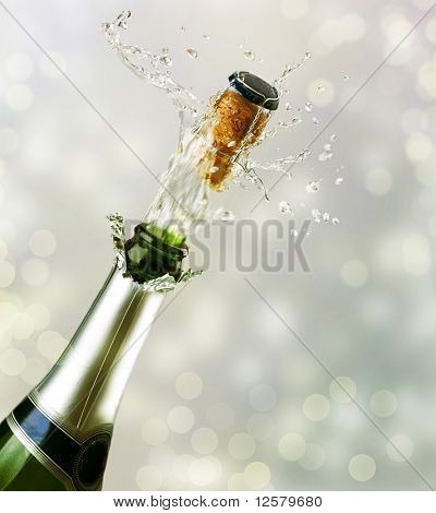 Champagne Explosion.Konzept zu feiern