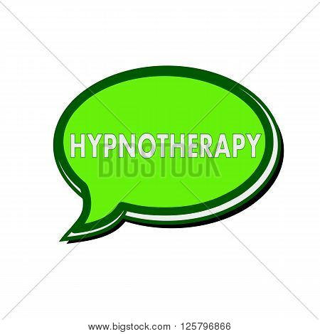 HYPNOTHERAPY white wording on green Speech bubbles