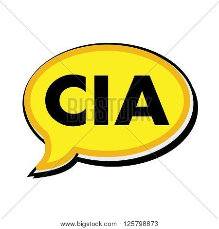 an images of Cia wording on yellow Speech bubbles