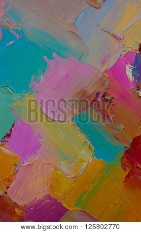 Colorful original abstract oil painting for the background.