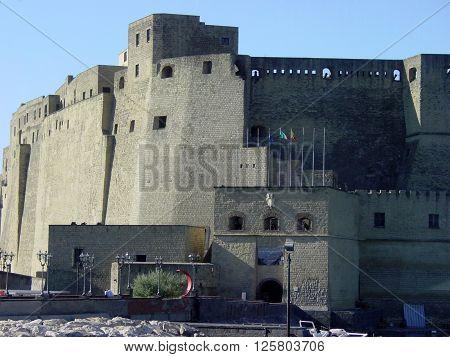 Castle dell'Ovo, Egg Castle, Italy city of Naples