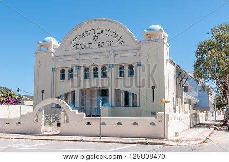 PORT ELIZABETH SOUTH AFRICA - FEBRUARY 27 2016: The Jewish Pioneers Memorial Museum was a Synagogue inaugurated on 11 December 1912
