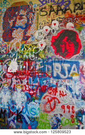 John lennon wall in Prague is located in the Velkoprevorske Namesti square near the French embassy in Malá Strana
