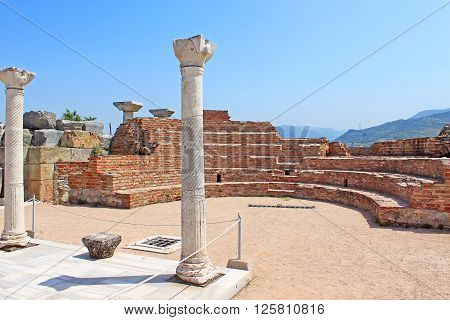 Ruins of st. Johns Basilica at Ayasuluk Hill - Selcuk, Ephesus, Turkey
