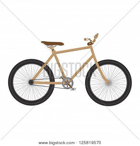 MTB Bicycle brown isolated. bike for tricks.