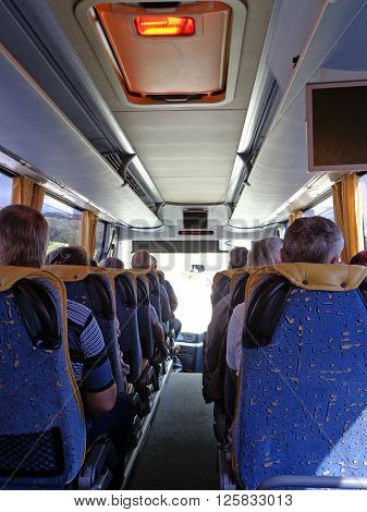 View of the passengers in the bus