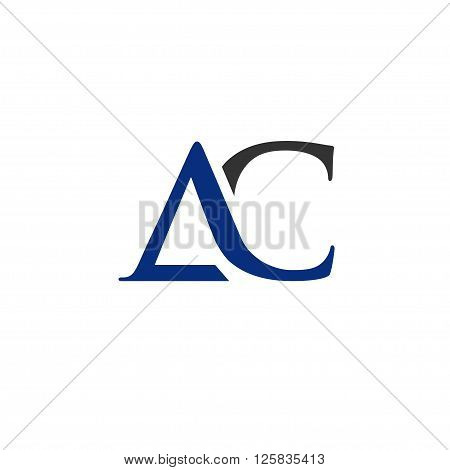 elegant and classy AC letter logo vector