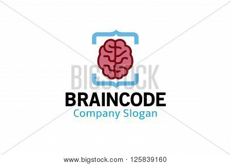 Brain Code Creative And Symbolic Logo Design Illustration