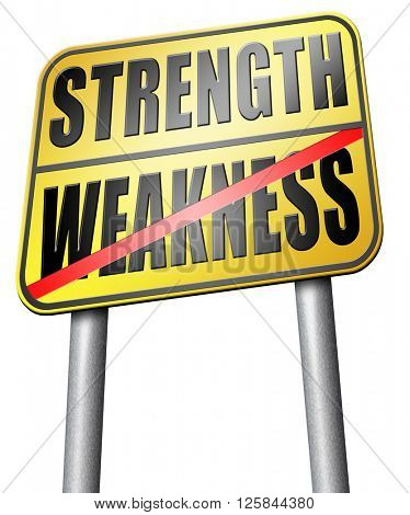 strength versus weakness strong or weak overcome problems by being strong and not weak accept the challenge to success poster