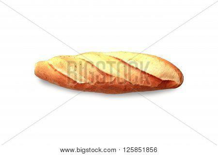 Turkish fresh bread on a white background