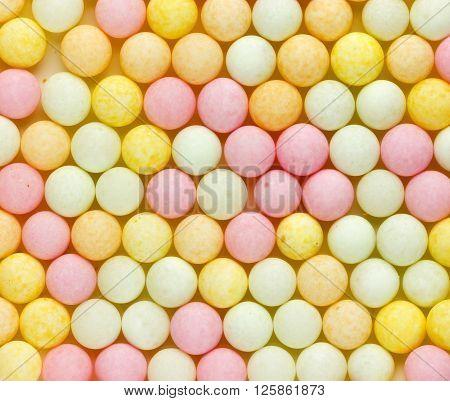 Bubble gum close up pastel color background
