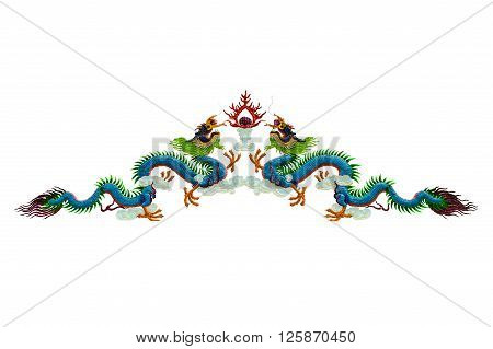 The chinese dragon isolated on white background