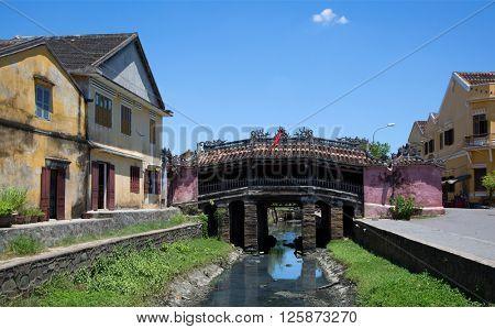 Japanese covered bridge in Hoi An, Vietnam
