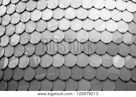 Brushed Stainless Steel Round Array Texture Abstract Background