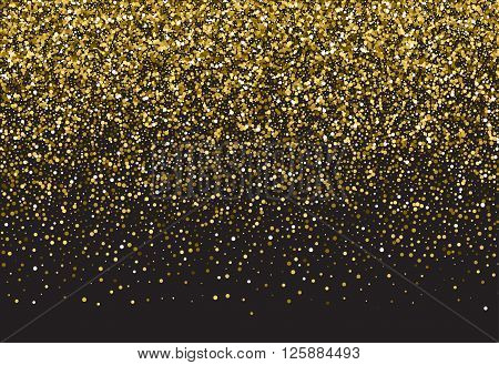 Gold sparkle vector template for your text. Template for your design