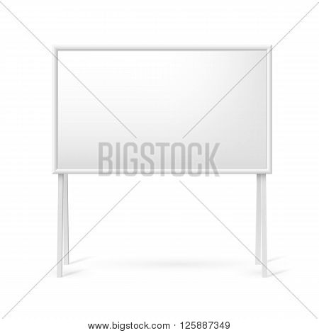Blank white marker board for business presentations or teaching