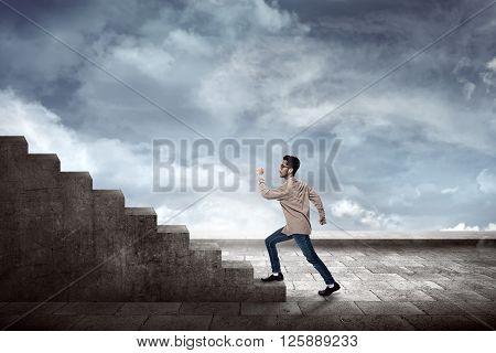 Man Going Up