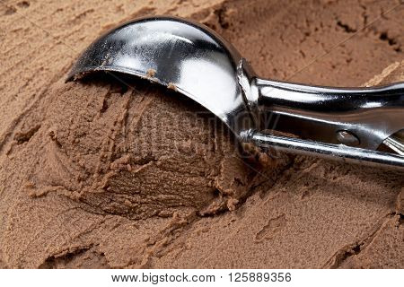 image of a scoop of chocolate ice cream