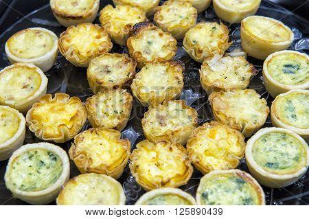 image of baking mini bite size quiche appetizers