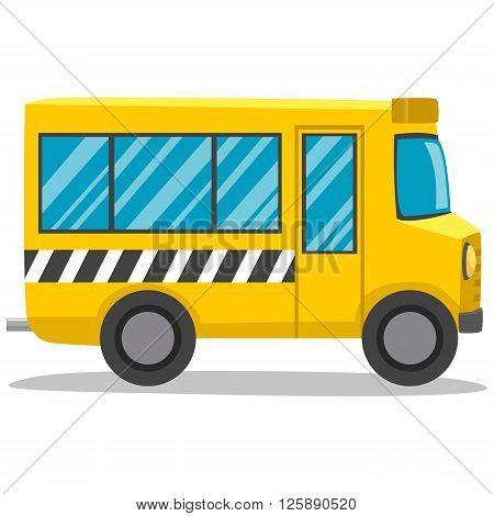 Stock Vector Illustration of Yellow School Bus