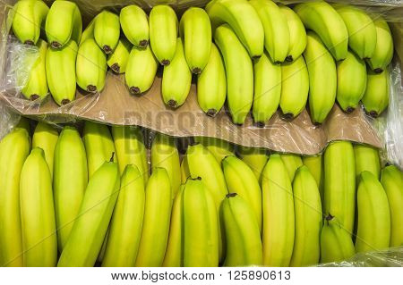 Bananas On Display From Market Shelves Real With Flaws And Bruis