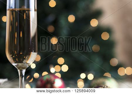 image of close up of champagne flute