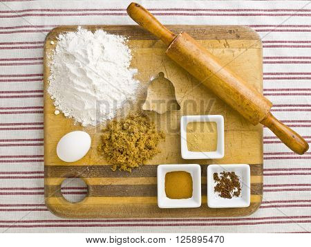 image of cooking preparation on a kitchen tabletop