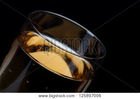 Detailed Shot Of A Glass Full Of Champagne