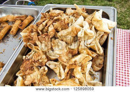 image of food warmers on catering event