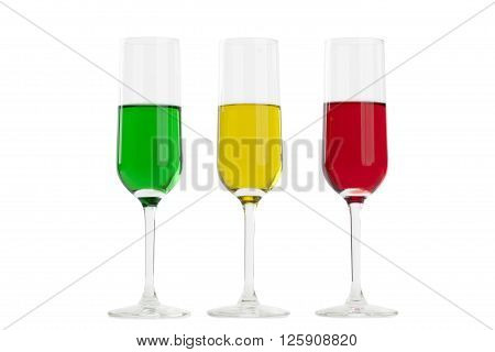 rainbow of flavours isolated on white background