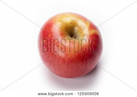 red apple portrait isolated on white background