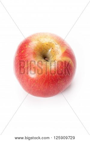 royal gala apple top view isolated on white background