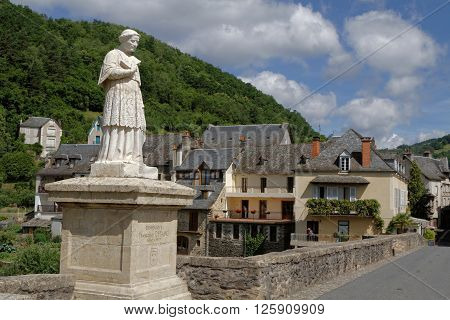Estaing, France, June 19, 2015 : Estaing Is Considered As One Of The Most Picturesque Villages In Fr