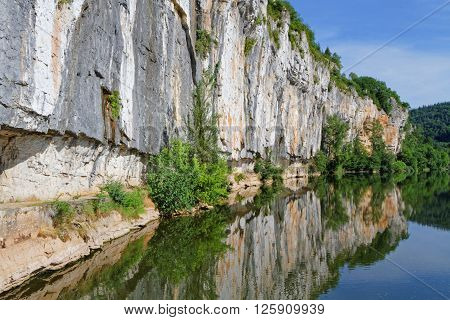 Bouzies, France, June 21, 2015 : The River Lot Was Used For Transport As Early As The 12Th Century,