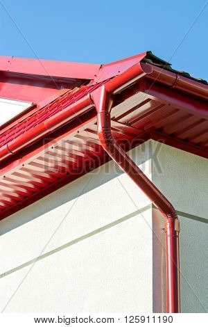 Corner Of A House With Gutter And Roof