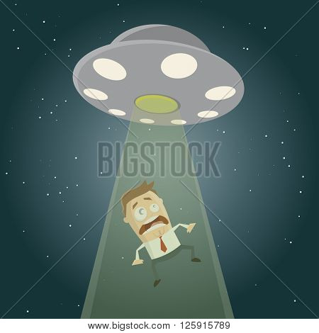 ufo abduction cartoon clipart