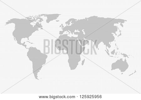 World map in grey on a white background