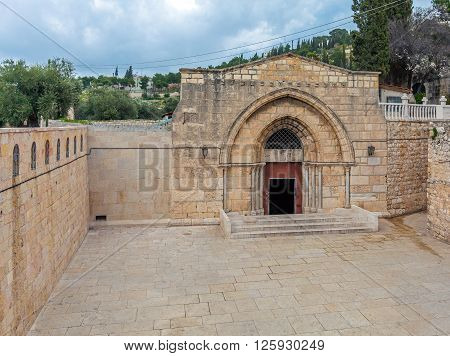 Exterior Tomb Of The Virgin Mary, Kidron Valley, Jerusalem