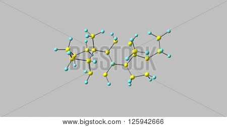 Pregnane is a parent of progesterone. It is a parent hydrocarbon for two series of steroids. 3d illustration