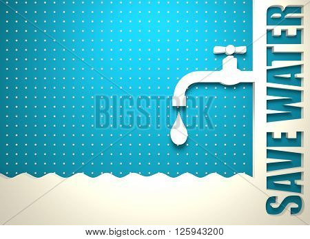Abstract vector background. Water conservation concept. Ecology Saving. 3D rendering