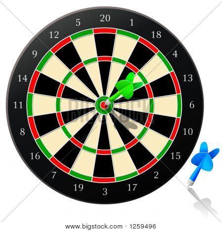 Dart Board With Arrow
