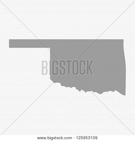 Map the State of Oklahoma in gray on a white background