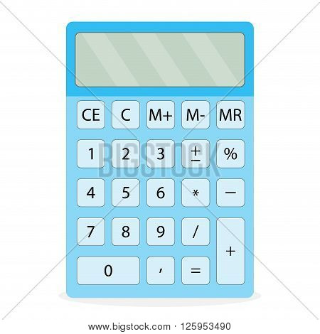 Device calculator isolated. Calculator icon and calculator isolated calculate finance digital abacus and accounting money finance device and electronic equipment. Vector flat design illustration