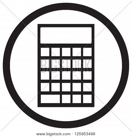 Device calculator icon black white. Calculator icon or calculator isolated finance accounting money. Vector flat design illustration