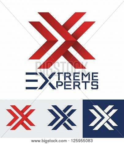 Modern styled logo for a sporty company. Letter X logo.