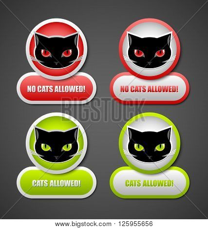 Cats allowed and no cats allowed permission icons