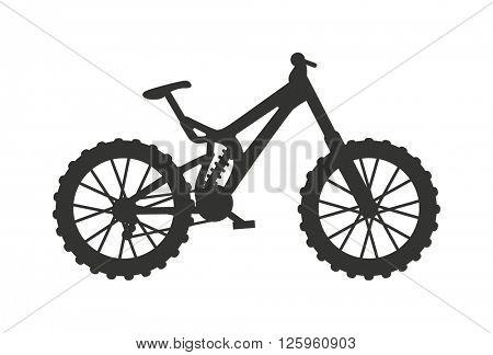 Classic sport bike silhouette pedal race vehicle vector illustration.