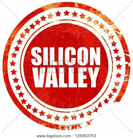 silicon valley, isolated red stamp on a solid white background