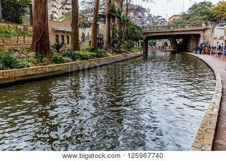 The Riverwalk At San Antonio, Texas.