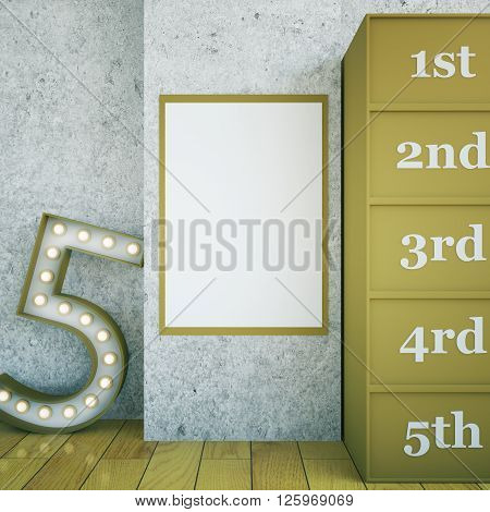 Star Dressing Room Blank Frame